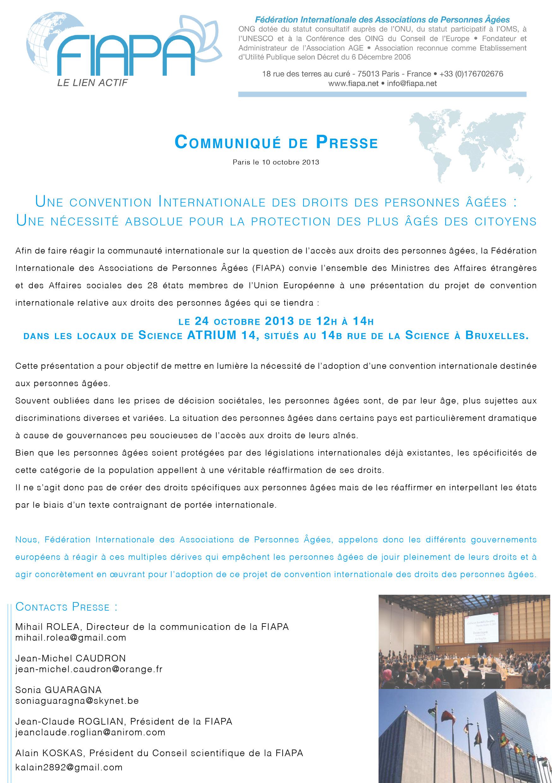 Communiqué presse FIAPA