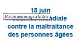 15 Juin 2016 – Journée mondiale de sensibilisation à la maltraitance des personnes