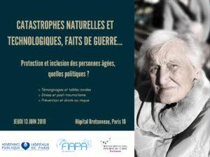 SÉMINAIRE : Catastrophes naturelles et technologiques, faits de guerre … Protection et inclusion des personnes âgées – quelles politiques ?