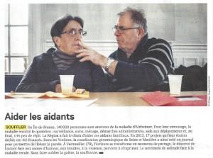 """""""Aider les aidants"""" – Ile de France N°51 – Avril 2014"""