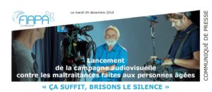 « Ça suffit, brisons le silence » Campagne audiovisuelle de sensibilisation contre les maltraitances vécues par les personnes âgées